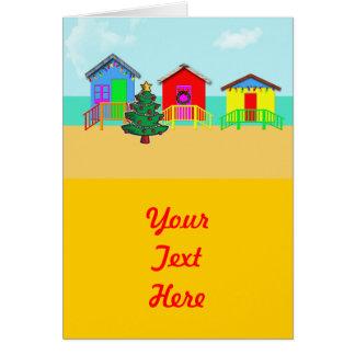 休日のビーチの小屋 カード
