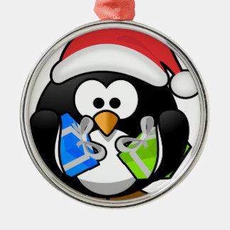 休日のペンギン メタルオーナメント