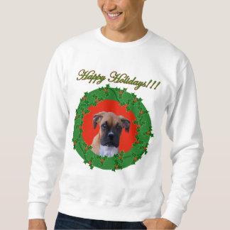 休日のボクサーの子犬のスエットシャツ スウェットシャツ