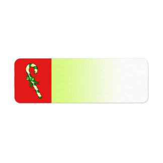 休日のラベルの緑のキャンディ・ケーン ラベル