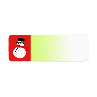 休日のラベルの赤の雪だるま ラベル