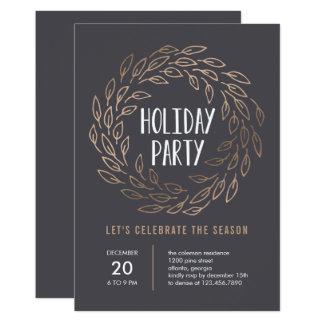 休日のリース編集可能色のパーティの招待状 12.7 X 17.8 インビテーションカード