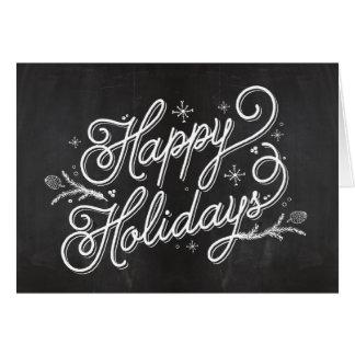 休日のレタリングの挨拶状-幸せな休日 カード