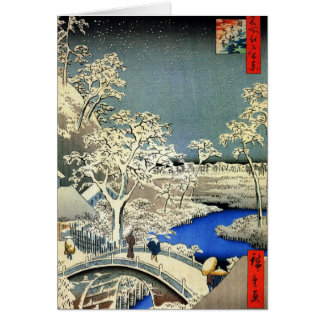 休日のレトロの日本のなクリスマスカード カード