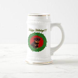 休日のロットワイラーのジョッキ ビールジョッキ