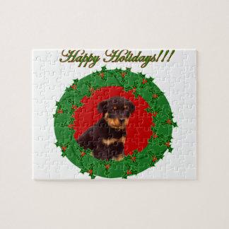 休日のロットワイラーの子犬 ジグソーパズル