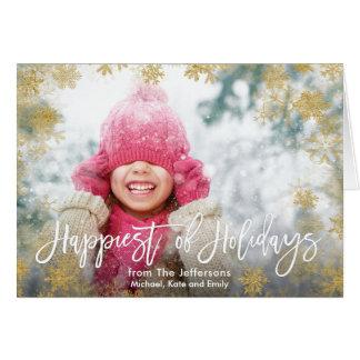 休日の写真の最も幸せ カード