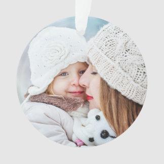 休日の冬は家族写真をはねかけます オーナメント
