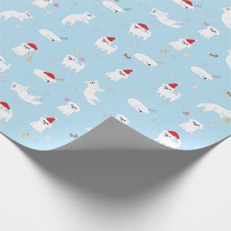 休日の包装紙: クリスマスのタロイモの版! ラッピングペーパー