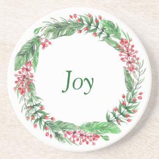 休日の喜びのクリスマスの装飾 コースター