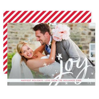 休日の喜びのモダンな上敷の写真の原稿のレタリング 12.7 X 17.8 インビテーションカード