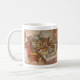 休日の夕食 コーヒーマグカップ