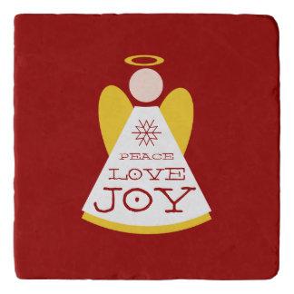休日の天使の平和愛喜びのクリスマス トリベット