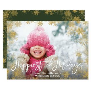 休日の完全な裁ち切り写真の最も幸せ カード