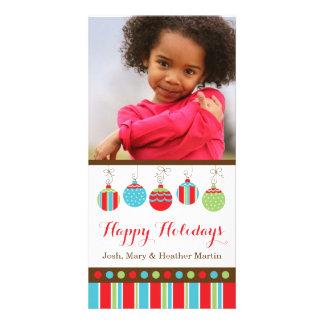休日の家族写真カード カード