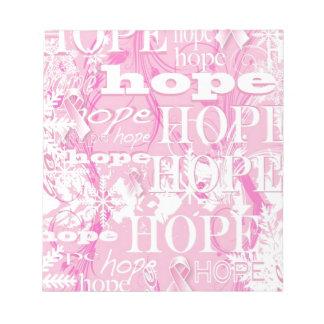 休日の希望の乳癌の認識度プロダクト ノートパッド