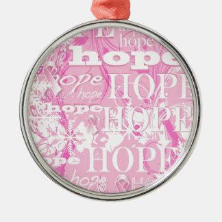 休日の希望の乳癌の認識度プロダクト メタルオーナメント