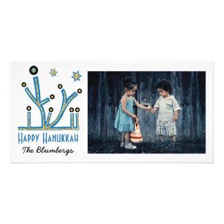 """休日の幸せなハヌカーカード""""きらきら光るな"""" (ユダヤ教)メノラー カード"""