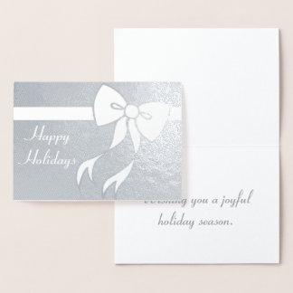 休日の弓クリスマスの挨拶状 箔カード