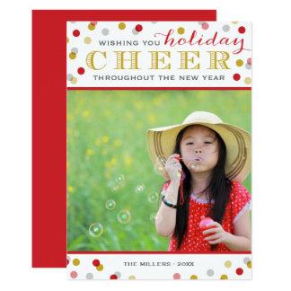 休日の応援のモダンなクリスマスの写真カード カード