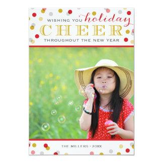 休日の応援のモダンなクリスマスの写真カード 12.7 X 17.8 インビテーションカード