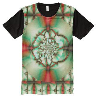 休日の応援の抽象芸術の罰金のフラクタルの芸術 オールオーバープリントT シャツ