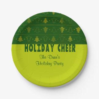休日の応援、クリスマスツリー ペーパープレート