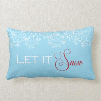 休日の投球枕はそれが雪が降るようにしました ランバークッション