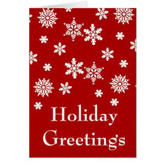 休日の挨拶の赤と白のクリスマスカード カード