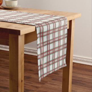 休日の格子縞のテーブルのランナー ショートテーブルランナー