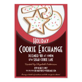 休日の砂糖クッキー交換交換の招待状 カード