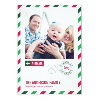 休日の航空郵便%PIPE%の休日の写真カード 12.7 X 17.8 インビテーションカード