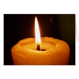 休日の蝋燭ライト カード