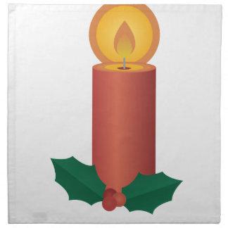 休日の蝋燭 ナプキン