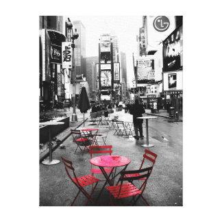 休日の販売! タイムズ・スクエアの白黒の赤のキャンバス キャンバスプリント