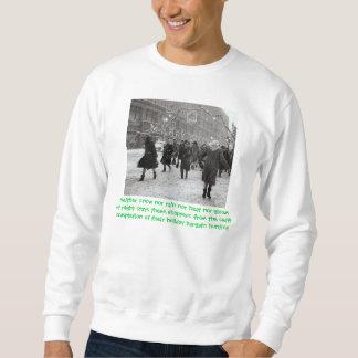 休日の買物客の信条 スウェットシャツ