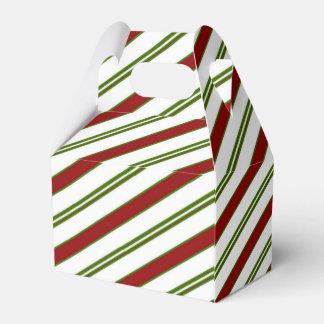 休日の赤く白い及び緑のキャンディ・ケーンのストライプ フェイバーボックス