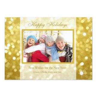 休日の金ゴールド|の写真カード 12.7 X 17.8 インビテーションカード