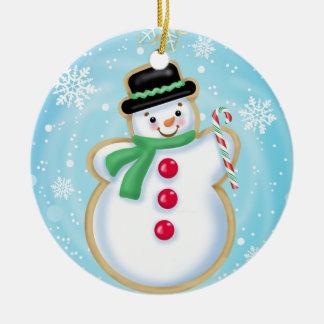 休日の雪だるまのクッキーのオーナメント セラミックオーナメント