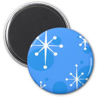 休日の雪片の円形の磁石 マグネット