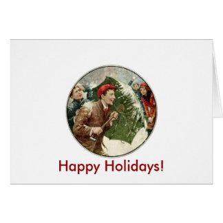 休日の雪玉の戦い カード
