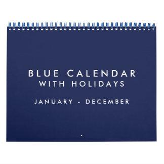 休日の青の空白のなカレンダー12か月 カレンダー