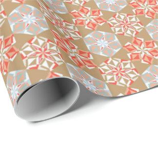 休日のOrigamiの花のギフト用包装紙のヴィンテージの金ゴールド ラッピングペーパー