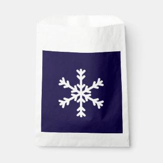 休日のSnowflakeFavorの青および白いバッグ フェイバーバッグ