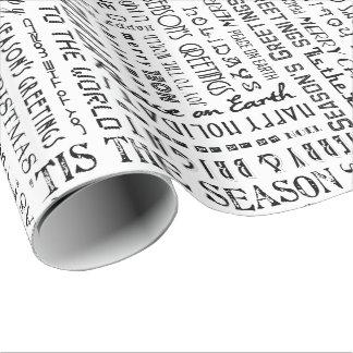 休日はタイポグラフィの専門のギフト用包装紙を言い表わします ラッピングペーパー