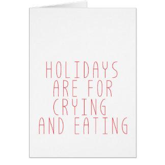 休日は叫ぶことのためです カード
