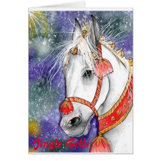 休日カード。 ジングルベルの子馬。 非常にかわいい! カード