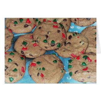 休日カード:  チョコレートチップスのクリスマスのクッキー カード