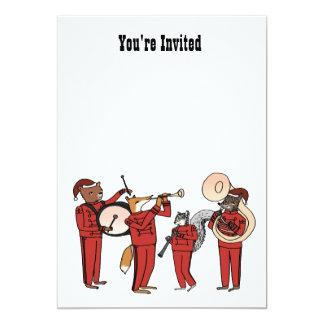 休日バンド招待-澄んな背景 カード