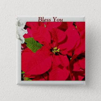 休日Blessings_ 5.1cm 正方形バッジ